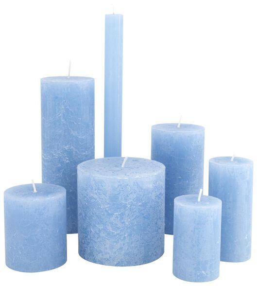 rustieke kaarsen blauw blauw - 1000020029 - HEMA
