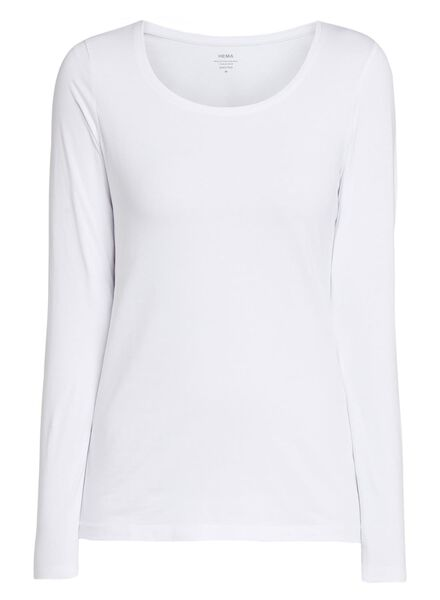 dames basic t-shirt wit wit - 1000005478 - HEMA