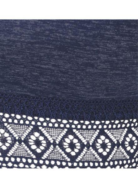 padded bh zonder beugels B-D donkerblauw donkerblauw - 1000009634 - HEMA