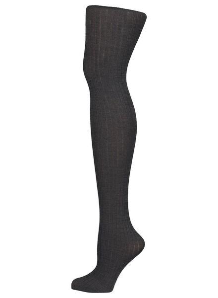 fashion wolmix maillot met rib dessin donkergrijs donkergrijs - 1000016526 - HEMA