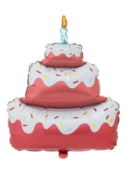 folieballon taart 65 cm - 60800670 - HEMA
