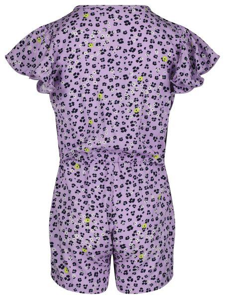 kinder jumpsuit bloemen lila 146/152 - 30841835 - HEMA
