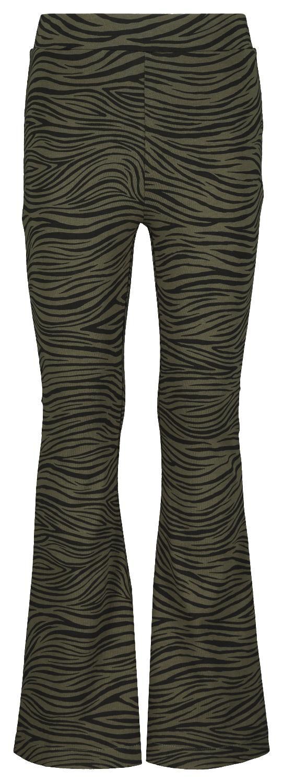 HEMA Kinderlegging Flared Zebra Legergroen (legergroen)