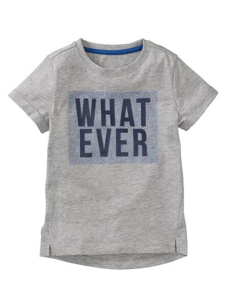kinder t-shirt grijsmelange grijsmelange - 1000003721 - HEMA