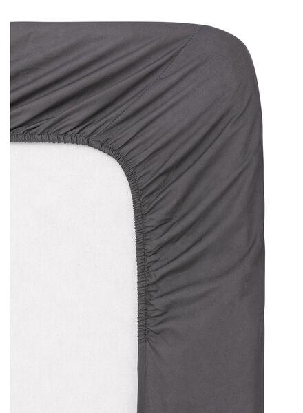 hoeslaken - zacht katoen - 90 x 200 cm - donkergrijs - 5140012 - HEMA