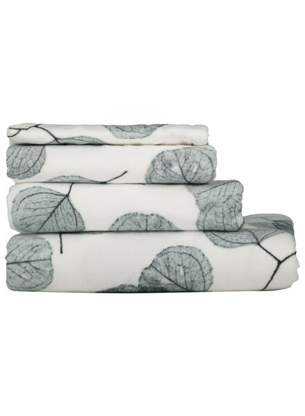 Handdoeken - velours - blad wit wit - 1000015753 - HEMA