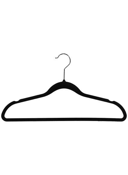 kledinghangers velours zwart -  6 stuks - 39891028 - HEMA