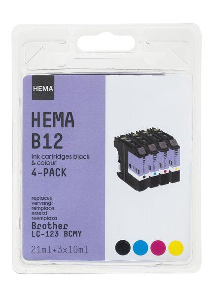 B12 vervangt de Brother LC-123 BCMY - 38320005 - HEMA