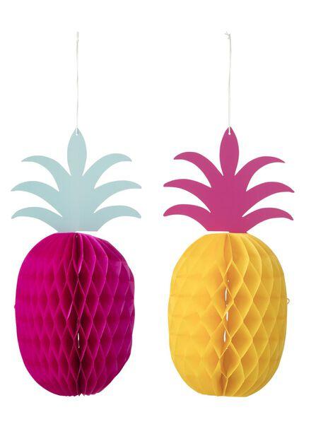 2-pak papieren ananassen - 25200412 - HEMA