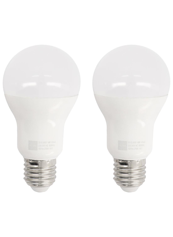 HEMA LED Lamp 100W – 1521 Lm – Peer – Flame – 2 Stuks (wit)