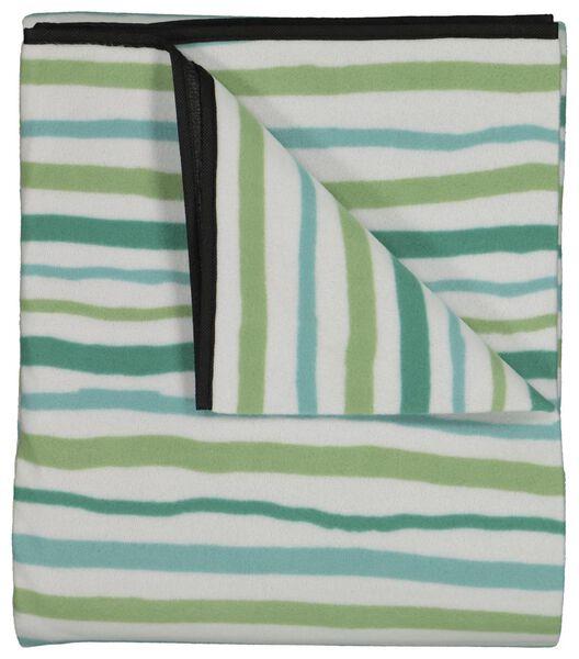 picknickkleed fleece 170x135 wit/groen - 41810164 - HEMA