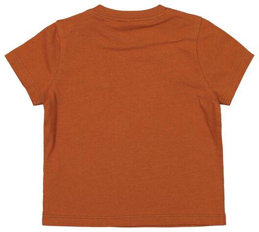 baby t-shirt bruin 68 - 33134812 - HEMA