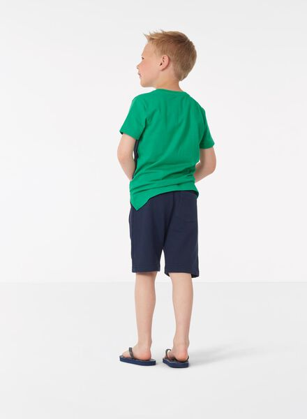 kindersweatshort blauw blauw - 1000013854 - HEMA