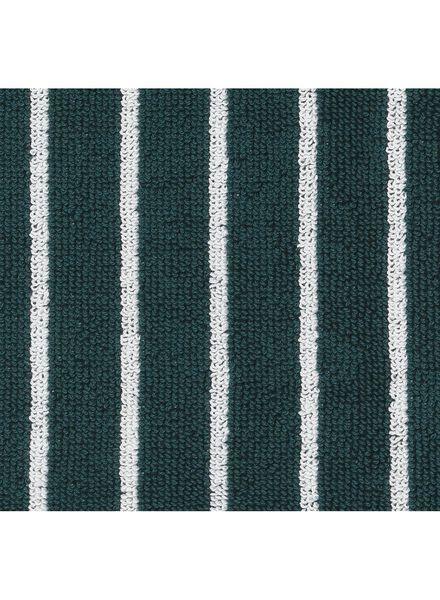 handdoek - 50 x 100 - zware kwaliteit - groen streep - 5210026 - HEMA