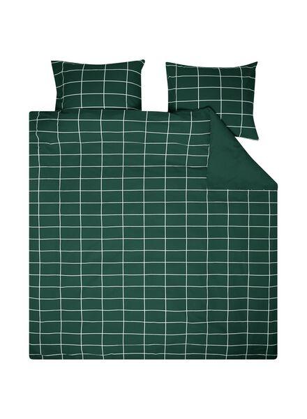 dekbedovertrek - 200 x 200 - katoen - groen groen 200 x 200 - 5710120 - HEMA