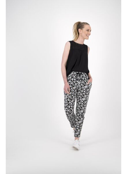 damesbroek zwart/wit zwart/wit - 1000013901 - HEMA
