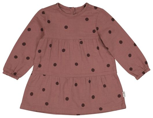 babyjurk stippen roze roze - 1000022580 - HEMA