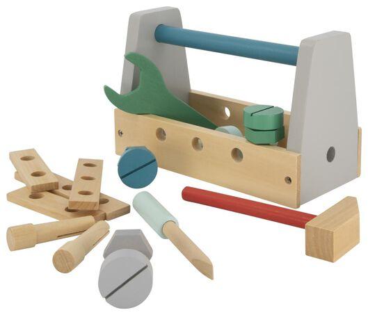 gereedschapskist hout - 15122220 - HEMA