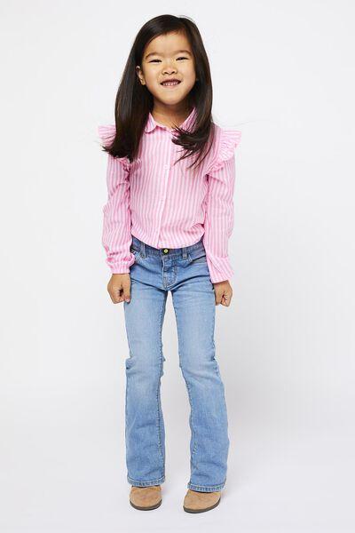 kinderblouse strepen fluor roze fluor roze - 1000021926 - HEMA