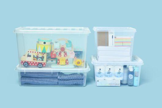 opbergbox 40x30x19 Madrid transparant - 39819501 - HEMA