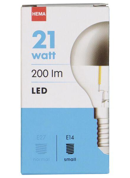 LED lamp 21W - 200 lm - kogel - kopspiegel zilver - 20020037 - HEMA