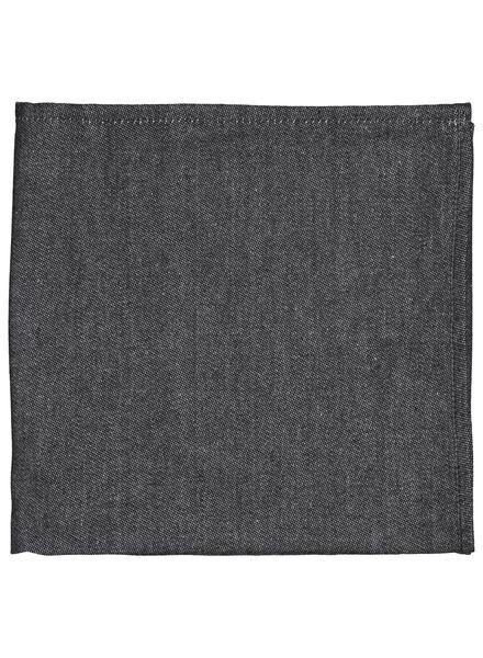 theedoek - 65 x 65 - cambray katoen - zwart - 5400109 - HEMA