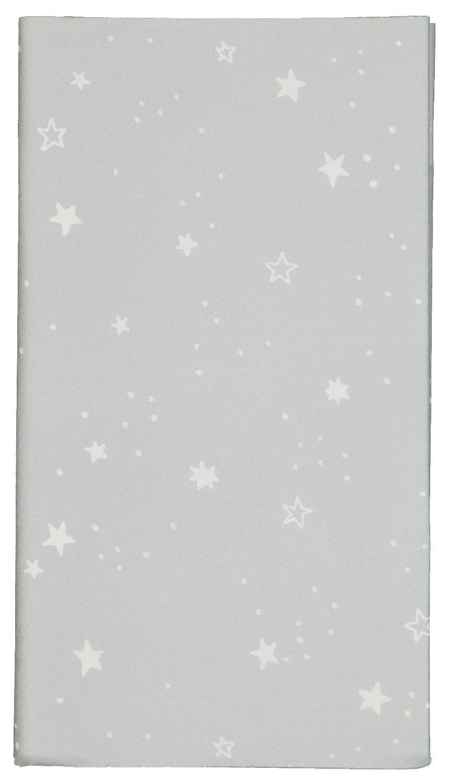 HEMA Tafelkleed Papier 138x220 Zilver Met Sterren (zilver)
