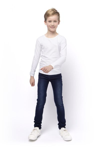 kinder jeans comfy fit donkerblauw donkerblauw - 1000014287 - HEMA