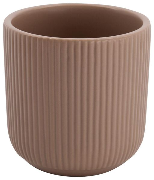 bloempot Ø11.6x12 ribbel roze - 13312249 - HEMA