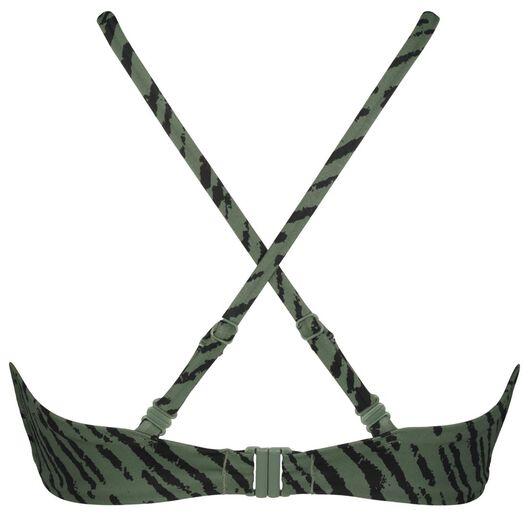 dames bikinitop zonder beugel - zebra legergroen legergroen - 1000022860 - HEMA
