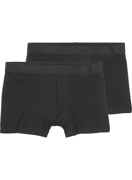 2-pak herenboxers short zwart XL - 19175214 - HEMA
