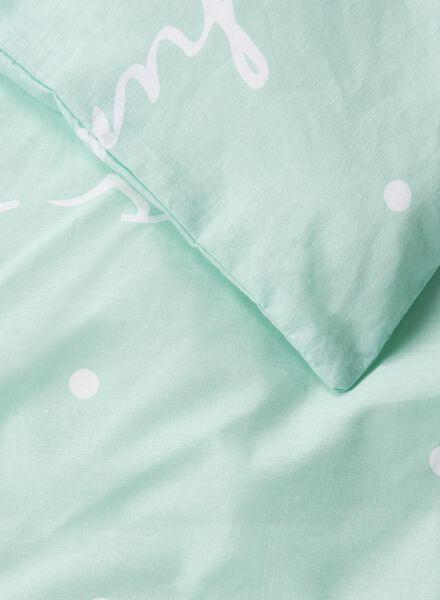 dekbedovertrek - zacht katoen - groen print blauw - 1000014142 - HEMA