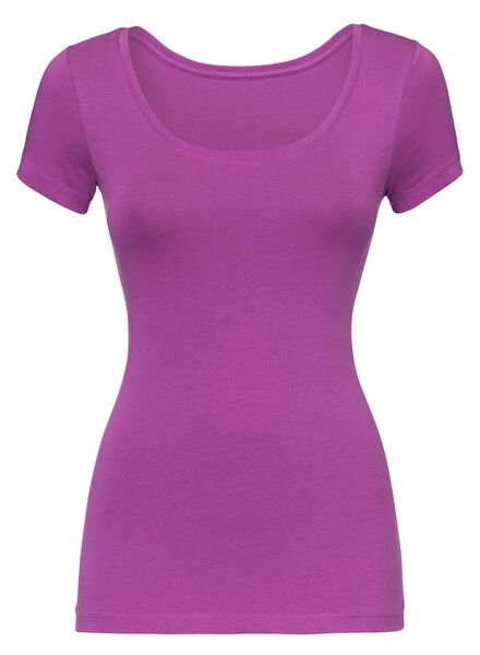 dames t-shirt fuchsia fuchsia - 1000005146 - HEMA