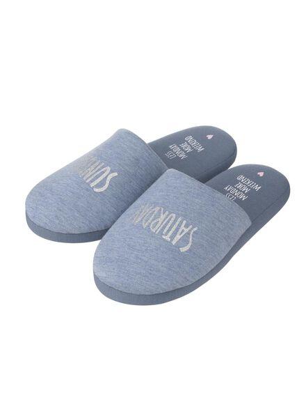 damessloffen blauw blauw - 1000012904 - HEMA