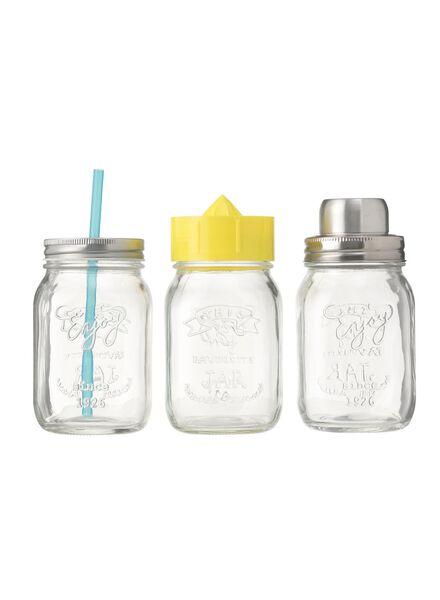 mason jar cocktailset - 80630393 - HEMA