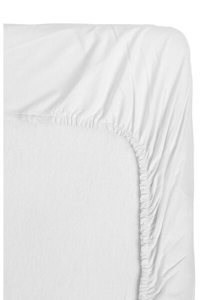 hoeslaken - jersey katoen - 180 x 200 cm - wit - 5140064 - HEMA