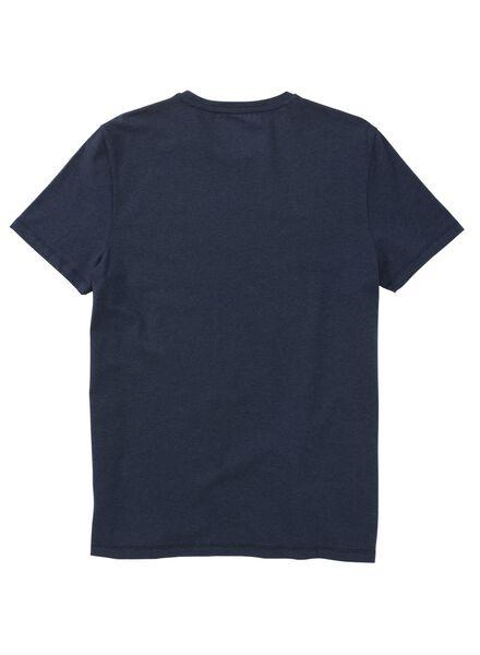 heren t-shirt blauw blauw - 1000011530 - HEMA
