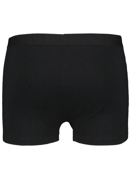 3-pak herenboxers kort zwart S - 19102631 - HEMA