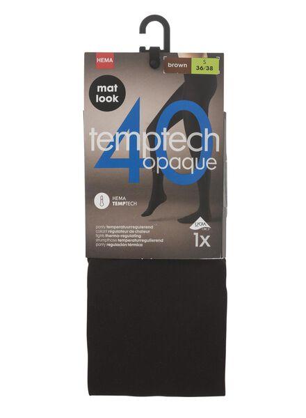 panty temperatuurregulerend 40denier bruin 48/52 - 4050254 - HEMA