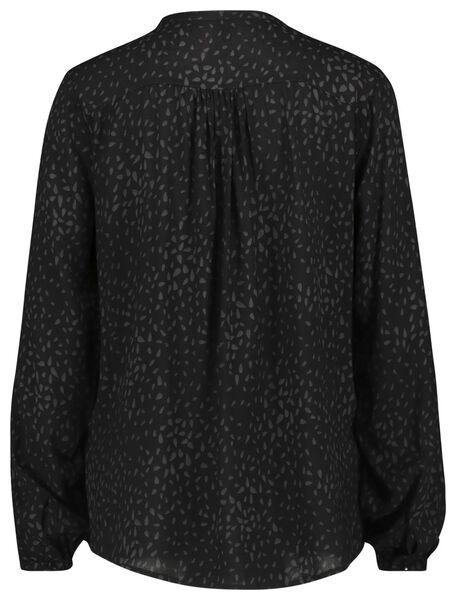damesblouse zwart zwart - 1000022062 - HEMA