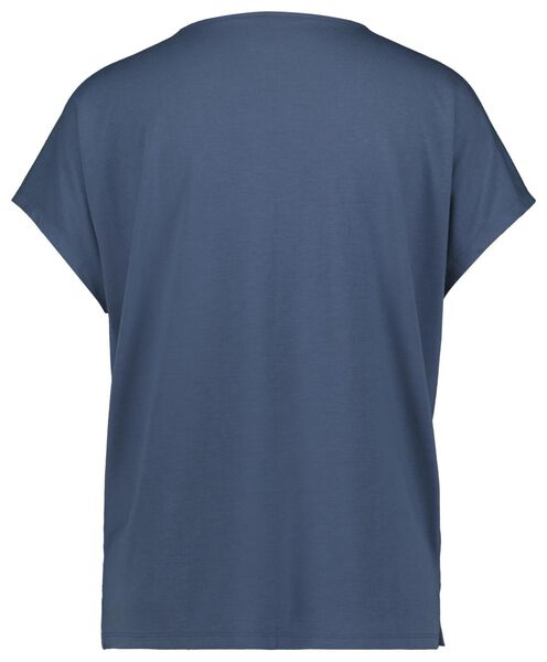 dames t-shirt blauw blauw - 1000023981 - HEMA