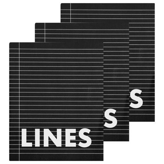 schriften 16.5 x 21 cm - gelinieerd - 3 stuks - 14101608 - HEMA