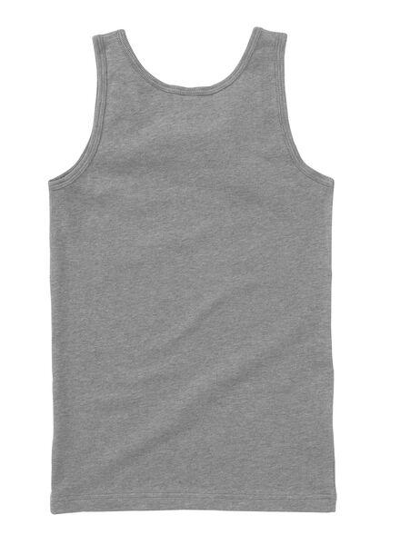 2-pak jongenshemd grijsmelange grijsmelange - 1000001437 - HEMA