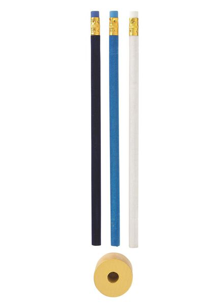 3-pak potloden met houder - 60700208 - HEMA