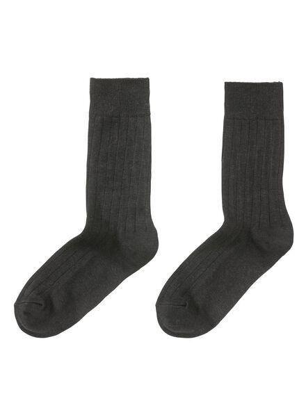 2-pak herensokken zwart zwart - 1000001406 - HEMA
