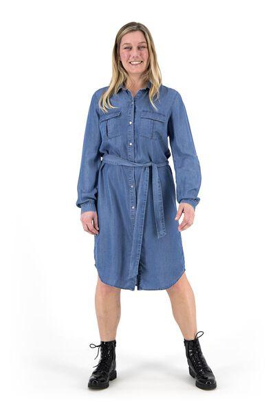 damesjurk middenblauw middenblauw - 1000019346 - HEMA
