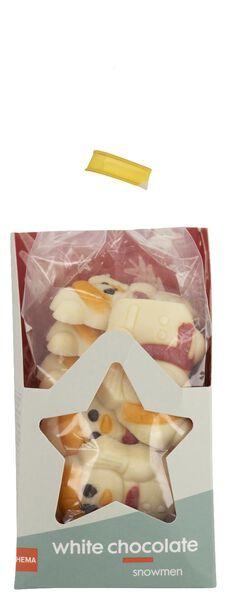 witte chocolade sneeuwpopjes 180gram - 10040040 - HEMA