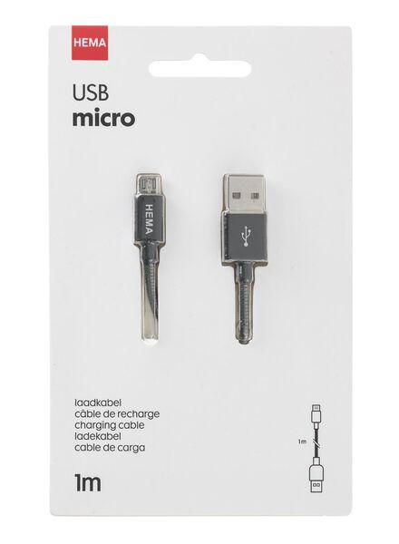 micro-USB laadkabel 1 meter - 39610059 - HEMA