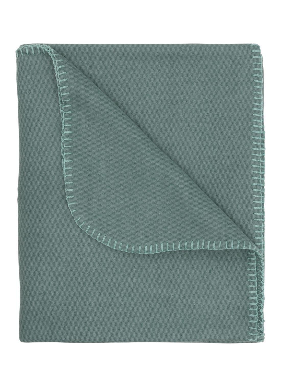 HEMA Fleece Plaid 130 X 150 Cm Groen