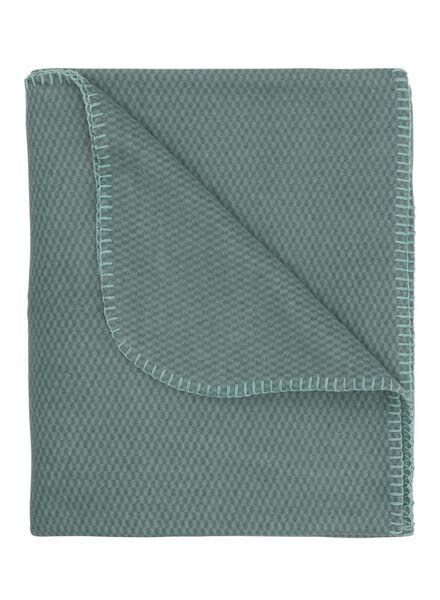 fleece plaid 130 x 150 cm groen - 7391027 - HEMA